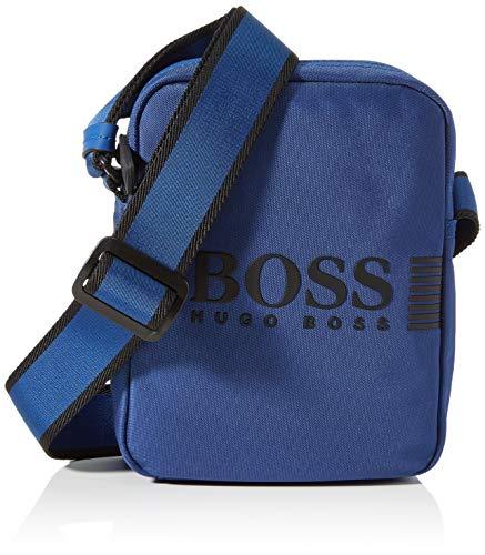 BOSS Mäns Pixel_NS dragkedja mini axelväska, Bright Blue431, ONESI