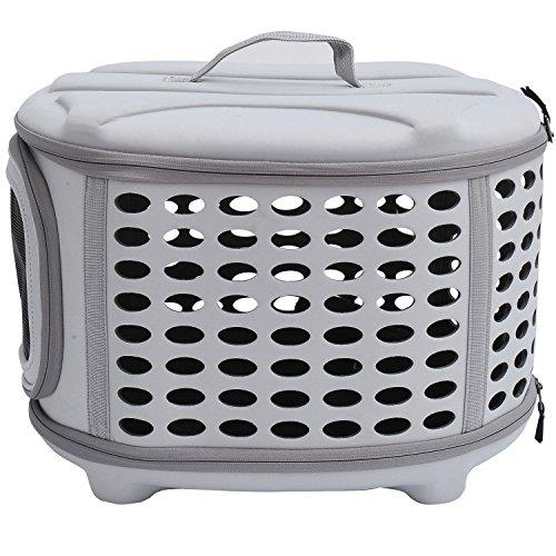 PawHut D1-0166 Transporttasche für Tiere, lichtgrau - 5
