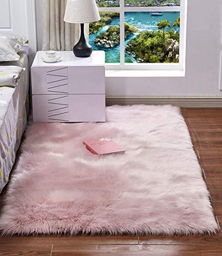 Extra Doux et Confortable Tapis Antidérapant Intérieur Moelleux épais pour Salon Chambre Filles Enfants (Rose,60x120 cm)