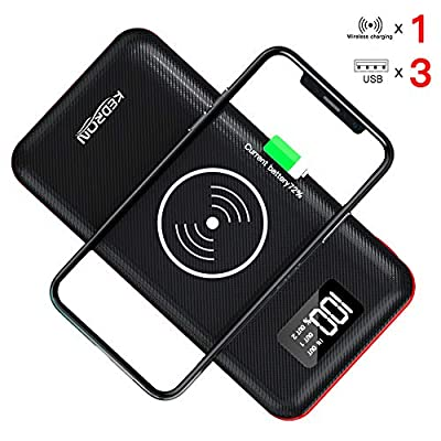 KEDRON Portable Charger Power Bank 24000mAh High Capacity with Digital Display LCD Screen, 3 USB Output & Dual Input, External Battery Pack for iPhone, iPad, Samsung Galaxy Smartphones and More
