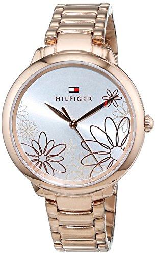 Tommy Hilfiger Damen Datum klassisch Quarz Uhr mit Edelstahl Armband 1781780