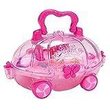 Milageto Bolsa de maquillaje para niñas, set de maquillaje para niños, lavable maquillaje para niñas, set de regalo – Estilo 5