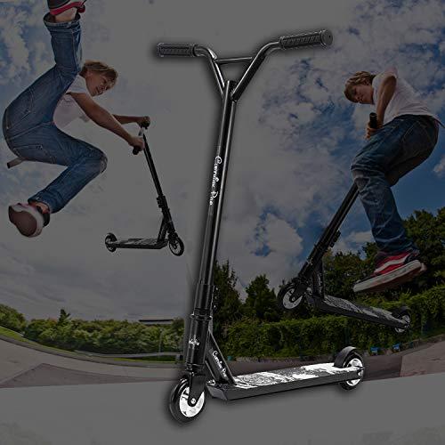 Clothink Universal Pro Stunt Scooter - Stunt Roller mit 100 mm PU Alu-Felge Räder für ab 7 Jahren (für 120cm bis 185cm) Freestyle, Tricks, Hochleistung Tretroller