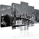 murando - Cuadro en Lienzo 200x100 cm New York Impresión de 5 Piezas Material Tejido no Tejido...
