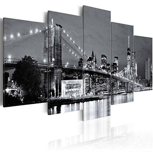 murando - Cuadro en Lienzo 200x100 cm New York Impresión de 5 Piezas Material Tejido no Tejido Impresión Artística Imagen Gráfica Decoracion de Pared Ciudad 030202-12