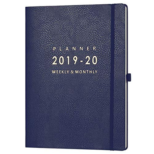 2019-2020 Planner with Pen Holder - Weekly & Monthly Planner with Calendar Stickers, July 2019 - June 2020, Inner Pocket with 24 Notes Pages, A4 Premium Thicker Paper, 8.5' x 11'