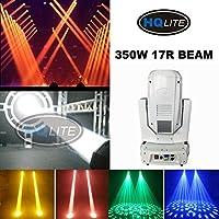 IpowerBingo 350W 17R 大型 屋外 防水 ムービングヘッドライト ステージライト ムービングライト(8 + 8 + 8プリズム)+ 16プリズム付(NJ-B350C)ステージ照明 DMX512対応 音声起動 両方向回転 LED 高輝度 パーティー 舞台照明 スポットライト 演出用 ディスコライト イルミネーション (白)