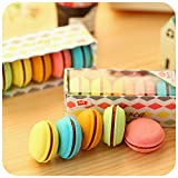 5 unids/set Gomas de borrar de color Macaron Borrador de goma de la torta linda para los niños borracha divertido material escolar material escolar 6471