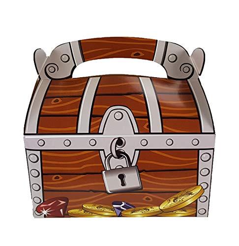 cama24com Piratenparty Schatzkiste Schatztruhe 6 Stück für Mitgebsel und Gastgeschenke auf dem Kindergeburtstag oder der Mottoparty von Palandi®