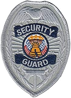 Rayon/Polyester Security Guard Patch Shoulder Patch Badge Patch Silver 2-1/2 x 3-3/8