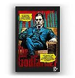 Al Pacino de la película El Padrino Parte 2 - Pintura Enmarcado Original, Imagen Pop-Art, Impresión Póster, Impresion en Lienzo, Cuadro, Cómics, Cartel de la Película