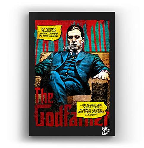 Arthole.it al Pacino dal Film Il Padrino Parte 2 - Quadro Pop-Art Originale con Cornice, Dipinto, Stampa su Tela, Poster, Locandina Film