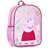 Mochila infantil de peppa pig para niñas con detalle de lentejuelas rosas en el vestido escuela de niños, guardería o bolsa de preescolar, bolsa de viaje para niños | talla única