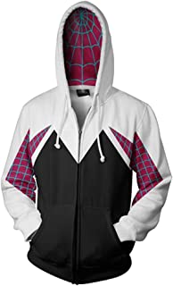 Piezone Adult Unisex Superhero 3D Printed Hoodie Jacket Cosplay Costume