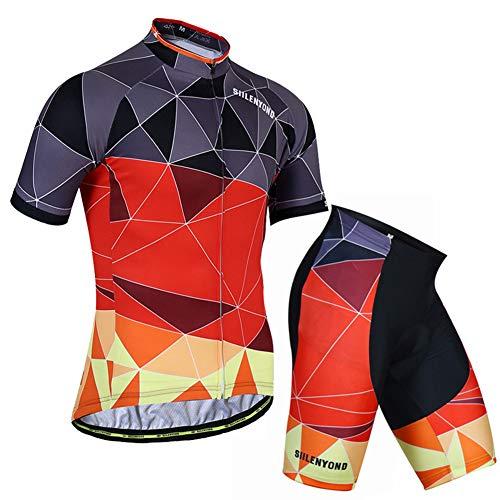 Verano Maillot Ciclismo con 3D Gel Acolchado Babero Pantalones Cortos Traje por...