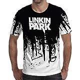 Linkin Park Camiseta Hombres Camiseta clásica Tendencia de la Moda de Manga Corta Camiseta Informal Estilo de la Universidad algodón Delgado Camiseta de Estudiantes y Mujeres de Cuello Redondo Suelta