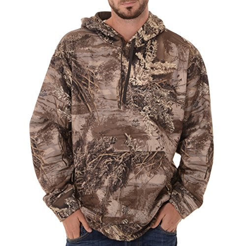 Realtree Herren Performance Pullover Fleece, L, Realtree Max XT Camouflage