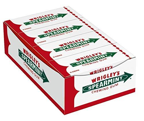 Wrigley\'s Spearmint Kaugummi | Minz-Geschmack | 8 Packungen (8 x 15 Streifen)