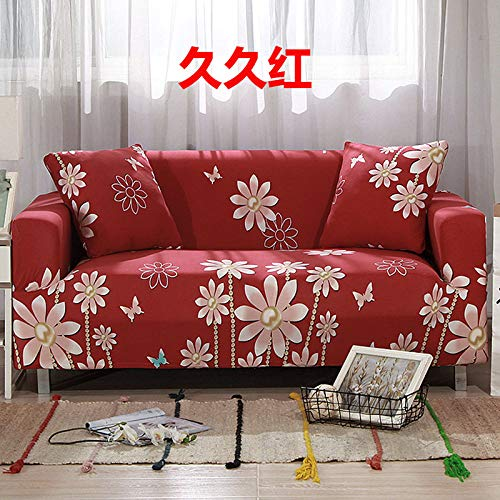 Slipcover Sofa Cover,Super Stretch Couch Cover Golden Beads Pink Daisy Print Red Universal Elastic Sofa Covers For Kids Dogs Pet Living Room Furniture Protector Friendly,Xl:180,240Cm(71,94Inch)