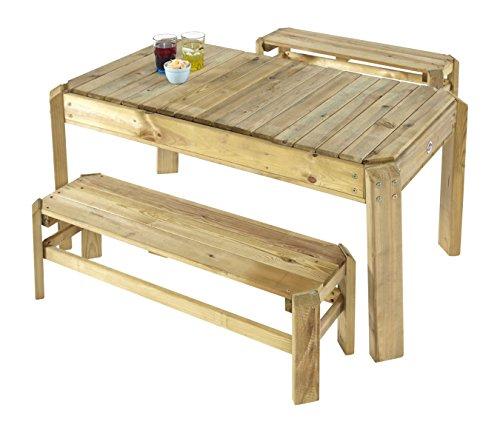 Pflaume Premium Holz Activity Tisch mit Bänken