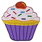 Freak Scene Aufnäher°Sticker°Patch°Bügelbild Muffin Farbe: lila