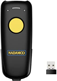 NADAMOO Wireless 2D Barcode Scanner Compatible with Bluetooth, 2.4G Wireless & USB Wired Connection, Portable Bar Code Sca...