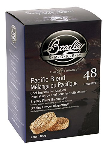 Bradley Smokers Pacific Blend Bisquettes (2.75 x 6.875 x 9.25-Inch by Bradley Smokers