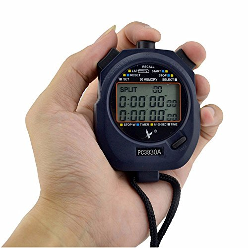 Cuzit professionale elettronico cronometro digitale corsa timer cronografo contatore cronometro con cordino PC3830A