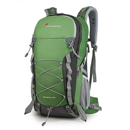 MOUNTAINTOP 40L Hiking Travel Backpack for Men Women with Rain Cover