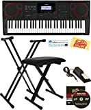 Casio CT-X3000 Keyboard Bundle with Adjustable Stand, Bench, Sustain Pedal, Online Lessons, Austin...