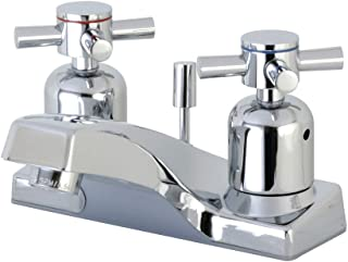 Kingston Brass FB201DX Concord 4-Inch Center set Lavatory Faucet with Plastic Pop-Up, Polished Chrome
