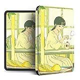 Funda Para Kindle Paperwhite - Funda Inteligente Para Dormir Automática Para Kindle 2019 Lanzada Décima Generación Para Todos Los Nuevos Paperwhite 1/2/3/4/Kindle Oasis Cute Girl Print Funda Ultra
