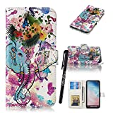 Samsung S10 Lite Bookstyle Case,Tifightgo Colorful Polished Embossed FILP PU Leather Cover Silicone Shell Wallet Case for Samsung Galaxy S10 Lite with Card Slots/Stand Function/Magnetic Buckle