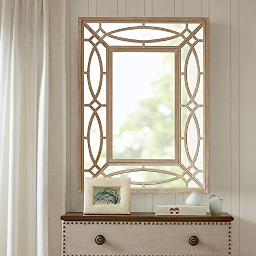 Madison Park Bancroft Natural Wood Frame Mirror Natural See Below