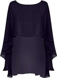 iixpin Damen Chiffon Poncho Stola Schal Kleid Umschlagtuch Brautkleid Abendkleid Elegant Schal Accessoire Vorne Kurz Hintern Lang Cape Kleider