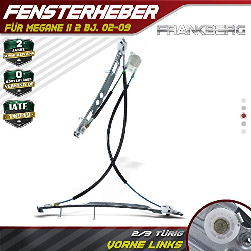 Frankberg Fensterheber Ohne Motor Vorne Links für Megane II BM0/1 CM0/1 2/3-Türig 2002-2009 8200325138