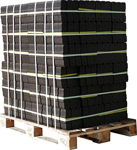 960kg UNION Kohle Kamin Briketts Palette inklusive Lieferung im 10kg Bündel TOP Gluthalter Brennholz Ofen Brikett Heizbriketts (ENERGIE KIENBACHER BRENNHOLZ, BRIKETTS & CO.)
