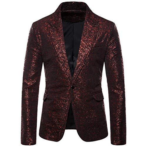 Vovotrade Charm Blazer Regular Fit Glitterend Sakko Pak Jas EN knoop mantel jas Business Bruiloft Party Afstuderen