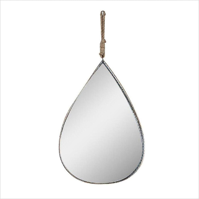 QARYYQ Water Drop Mirror Large Frame Water Drop Wall Hanging Mirror Silver Glass Living Room Bedroom Hall Hallway Kitchen Wall Mirror (Size   27  39cm)