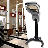 Rolling Salon Hair Steamer Machine, Salon Ozone Hair Care SPA Steamer Oil Hair Styling Machine (Black)