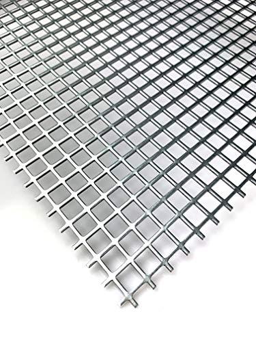 Stahl Verzinkt Lochblech QG10-12 Stahl 2 mm dick Wunschzuschnitt nach Maß (500 mm x 600 mm)