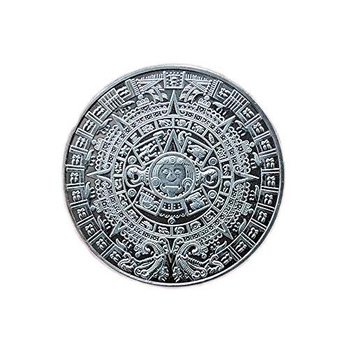 Mexiko,Maya,Kalender,Weissagung,Azteke,Münze,Abzeichen,Gedenkmünze,Prophezeiung,Endurium,40Mm Bestes Geschenk/Silber / 2 Stück