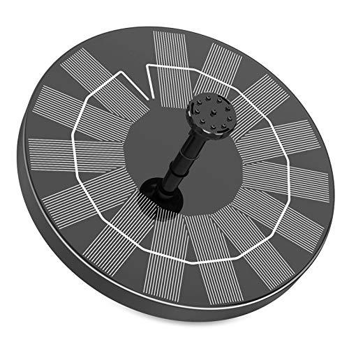 Fuente Solar para Estanque, AISITIN 3.5W Bomba de Agua Solar, Solar Fuente con 6 Estilos, para Estanque de Jardín Fuente, Baño para Pájaros, Césped, Circulación de Agua para Oxígeno