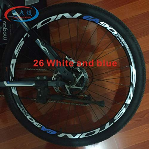 BLOUR 2Räder / Set Mountainbike 26 27,5 29 Zoll Rad Aufkleber Fahrrad Rad Felge Reflektierende Aufkleber Fahrrad Aufkleber Rad Dekoration Film