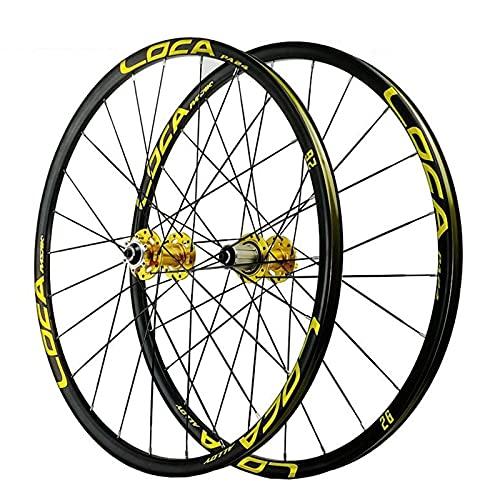 YBNB 26 27,5 Pulgadas Aleación De Aluminio MTB Ruedas De Ciclismo Rueda De Bicicleta MTB Llanta De Doble Pared Freno De Disco Qr 24H 4 8-12 Velocidad