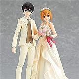 XUEMEI Bridegroom Wedding-Dress-Bride Anime Figure 12CM Figma Statue Model Collectibles Souvenir Wedding-Decorations Puppet Lovers Gift 2pcs