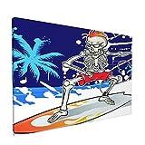 PATINISA Surfista esqueleto en el fondo del mar de verano Painting Cuadro sobre Lienzo Canvas Wall Art para Colgar Impresión de la Lona 45x30cm