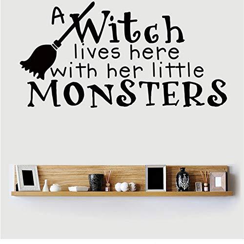 Kyzaa Halloween opschrift muursticker voor kinderkamer persoonlijkheid gesneden raam glazen deur sticker aan de muur