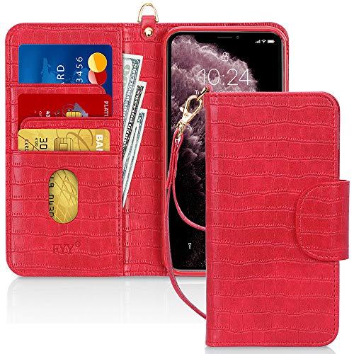 pour Appple iPhone 11 6.1 2019 Rose Or Pochettes FYY Etui Coque iPhone 11, Fentes pour Cartes /Étui en Cuir PU pour Portefeuille avec et Fonction Kickstand
