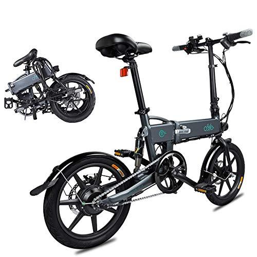 Phaewo Bici elettrica Pieghevole, Fiido D2 Ebike 7.8 Ah Batteria agli Ioni di Litio 250 W, Tre modalità di Lavoro, 16 Pollici, con Luce LED Anteriore, per Adulti (D2-Grigio)